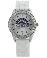 Game Time Women's Colorado Rockies Frost Watch White
