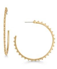 Inc International Concepts Gold Tone Studded Hoop Earrings Only At Macy's
