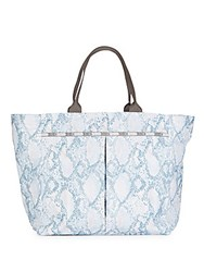 Le Sport Sac Deluxe Everygirl Snake Print Tote Blue Snake