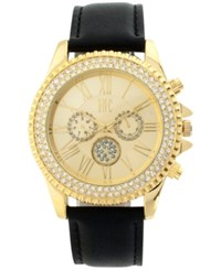 Inc International Concepts Women's Black Leather Strap Watch 40Mm Only At Macy's