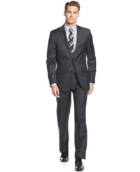Dkny Charcoal Solid Extra Slim Fit Suit