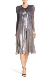Komarov Women's Charmeuse And Chiffon A Line Dress With Jacket