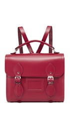 The Cambridge Satchel Company Barrel Backpack Rhubarb Red