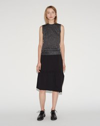 Sara Lanzi Stretch Crepe Skirt Black