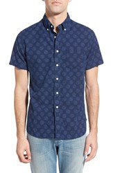 Men's Grayers Trim Fit Anchor Print Chambray Sport Shirt
