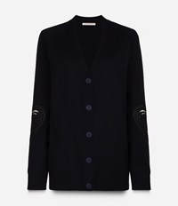 Christopher Kane Love Heart Cardigan Blue