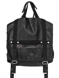 Balmain Convertible Leather Backpack