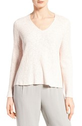 Eileen Fisher Women's Organic Linen And Cotton V Neck Sweater Shell