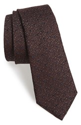 Rag And Bone Men's Rag And Bone 'Heathered Dot' Silk And Wool Tie Red Oxblood