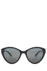 Linda Farrow Gold Detailed Cateye Sunglasses Black