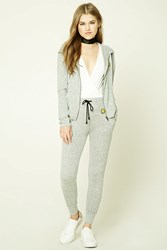 Forever 21 Happy Face Patch Sweatpants