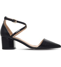 Miss Kg Ava Croc Embossed Court Shoes Black