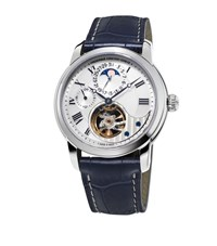 Frederique Constant Manufacture Heart Beat Moonphase Watch Unisex Silver
