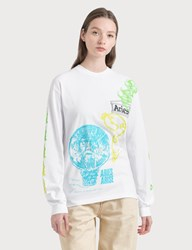 Aries French Monster Long Sleeve T Shirt White