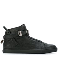 Buscemi Padlock Detail Hi Top Sneakers Black