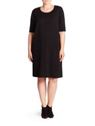 Eileen Fisher Merino Wool Sweater Dress Black