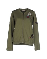 Napapijri Topwear Sweatshirts Women Military Green