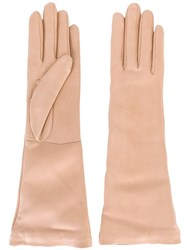 Jil Sander Leather Gloves Pink And Purple