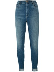 J Brand High Rise Cropped Jeans Blue