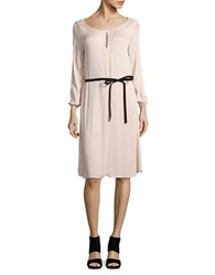 Velvet By Graham And Spencer Solid Belted Shift Dress Pink