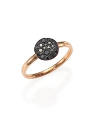 Pomellato Sabbia Black Diamond And 18K Rose Gold Small Ring