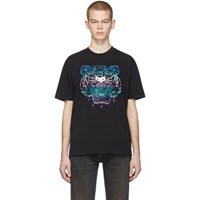 Kenzo Black Limited Edition Holiday Tiger T Shirt