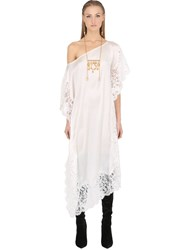 Ma'an Silk Satin And Lace Caftan Dress