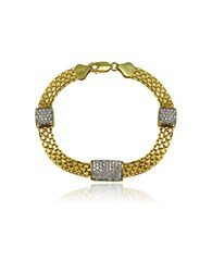Lord And Taylor Cubic Zirconia Sterling Silver Bracelet Gold