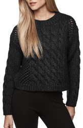 James Perse Women's Crop Cable Knit Sweater