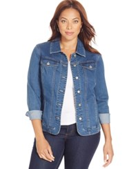 Charter Club Plus Size Denim Jacket Only At Macy's Nantucket Wash