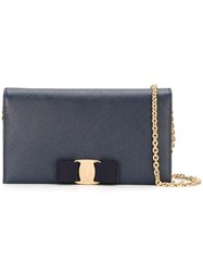 Salvatore Ferragamo 'Vara' Clutch Blue