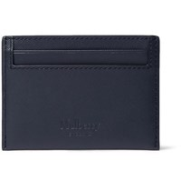 Mulberry Cross Grain Leather Cardholder Navy
