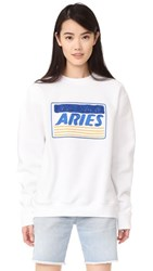 Aries Credit Card Embroidered Sweatshirt White