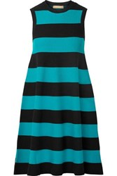 Michael Kors Collection Striped Knitted Dress Black