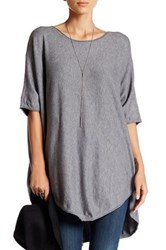 Luma Cape Sweater Gray