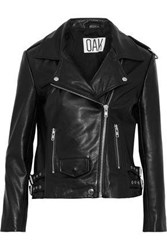 Oak Ny Rider Leather Biker Jacket Black
