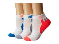 New Balance Adaptive Low Cut 3 Pack White Pink Low Cut Socks Shoes