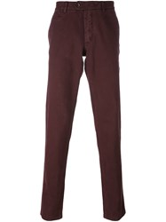 Fay Classic Chino Trousers Pink And Purple