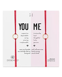 Dogeared You And Me Friendship Bracelets Set Of 2 Red