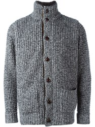N.Peal Marled Buttoned Cardigan Grey