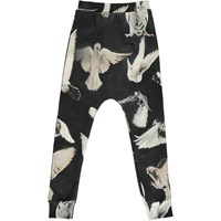 Popupshop Baggy Leggings Black Birds