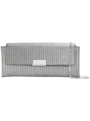 Emporio Armani Chain Texture Shoulder Bag Metallic