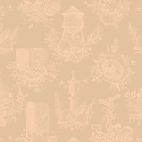 Flavor Paper Wythe Toile Wallpaper Beige Green Blue