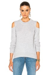 Veronica Beard Central Cold Shoulder Sweater In Gray
