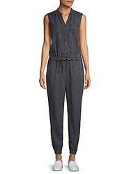 Ag Adriano Goldschmied Button Sleeveless Jumpsuit Sulfur