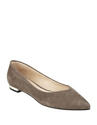 Marc Fisher Synal Suede Flats Grey