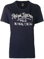 Polo Ralph Lauren Print T Shirt Blue