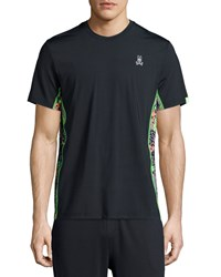 Psycho Bunny Short Sleeve Performance Tee W Camo Panels Black
