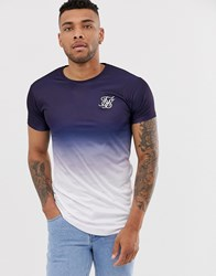 Sik Silk Siksilk Muscle T Shirt In Faded Navy Blue