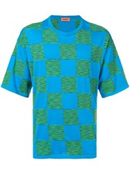Missoni Contrast Check T Shirt Blue